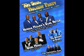 "Scotty Productions presents ""70's Soul Holiday Party - All Dressed in Blue"""