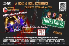 "Fifty Amp Fuse ""Godz of Vinyl"" and featuring Hines Drive - Rescheduled for May 15, 2020"