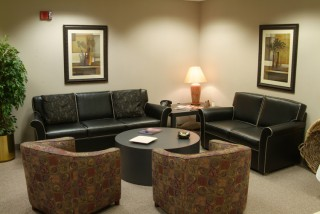 Green Room Lounge Area