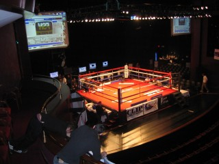 Theater set-up as Boxing Venue