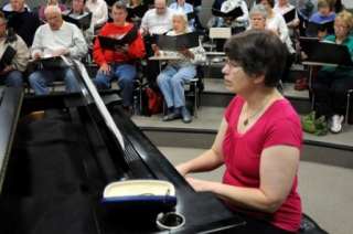 Dearborn Community Chorus accompanist Carolyn Haury
