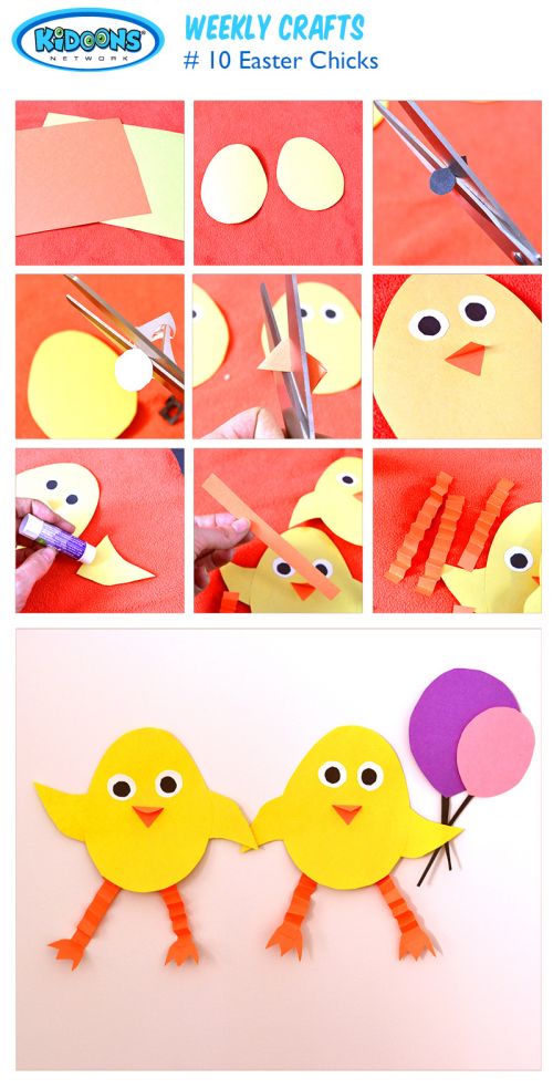 Easter Chicks craft from Kidoons Network