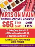 Spring Break Art Camps at Arts on Main
