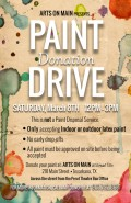 Arts on Main Paint Donation Drive 2014