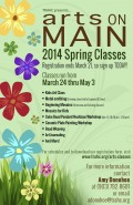 Arts on Main Spring Classes 2014