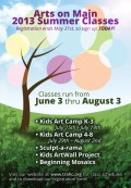 Arts on Main Summer Art Classes Registration