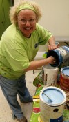 Processing the donated paint