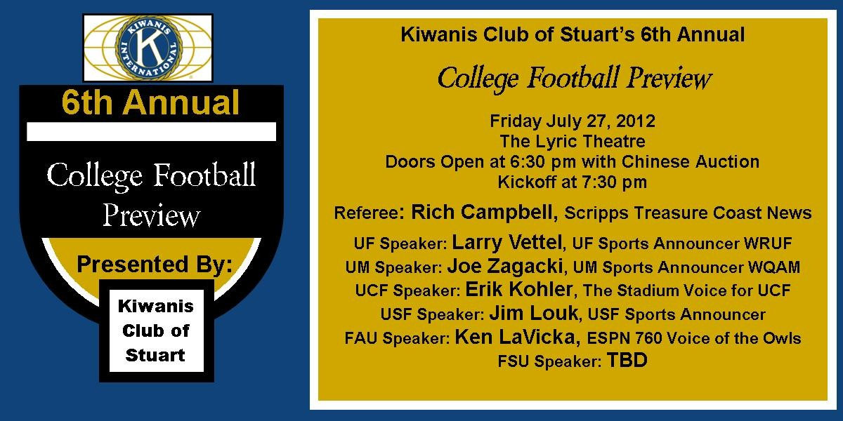 Kiwanis 6th Annual Football Preview|Show | The Lyric Theatre